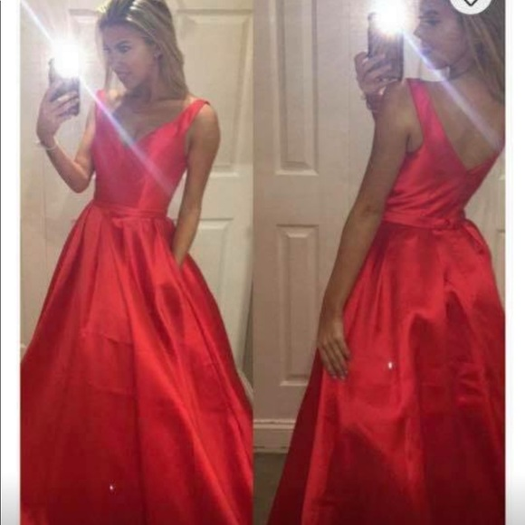 another chance united states latest Red Prom Dress!